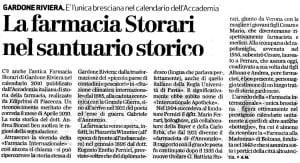 Articolo del Giornale di Brescia del 2010